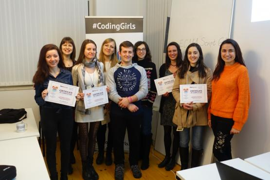 Coding Girls Plovdiv JS Course Group Photo